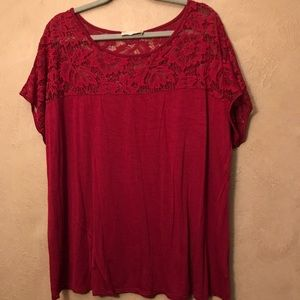 Tops - Red Plus Size Top